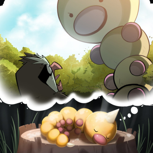 Weedle's dream by Tyson Hesse via Geek Draw.