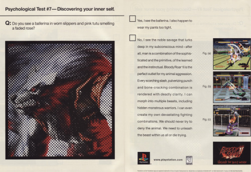 Bloody Roar 2 magazine advert.