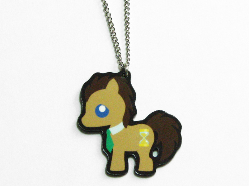 Get your own little Timelord! Doctor Hooves is now available in necklace form. You can find it here for $10 + shipping.