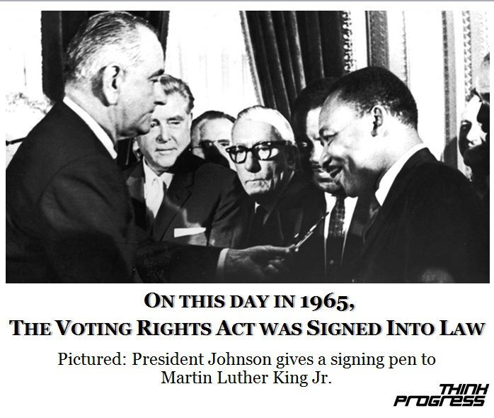 think-progress:  The most important voting rights law in American history turns 47 today.