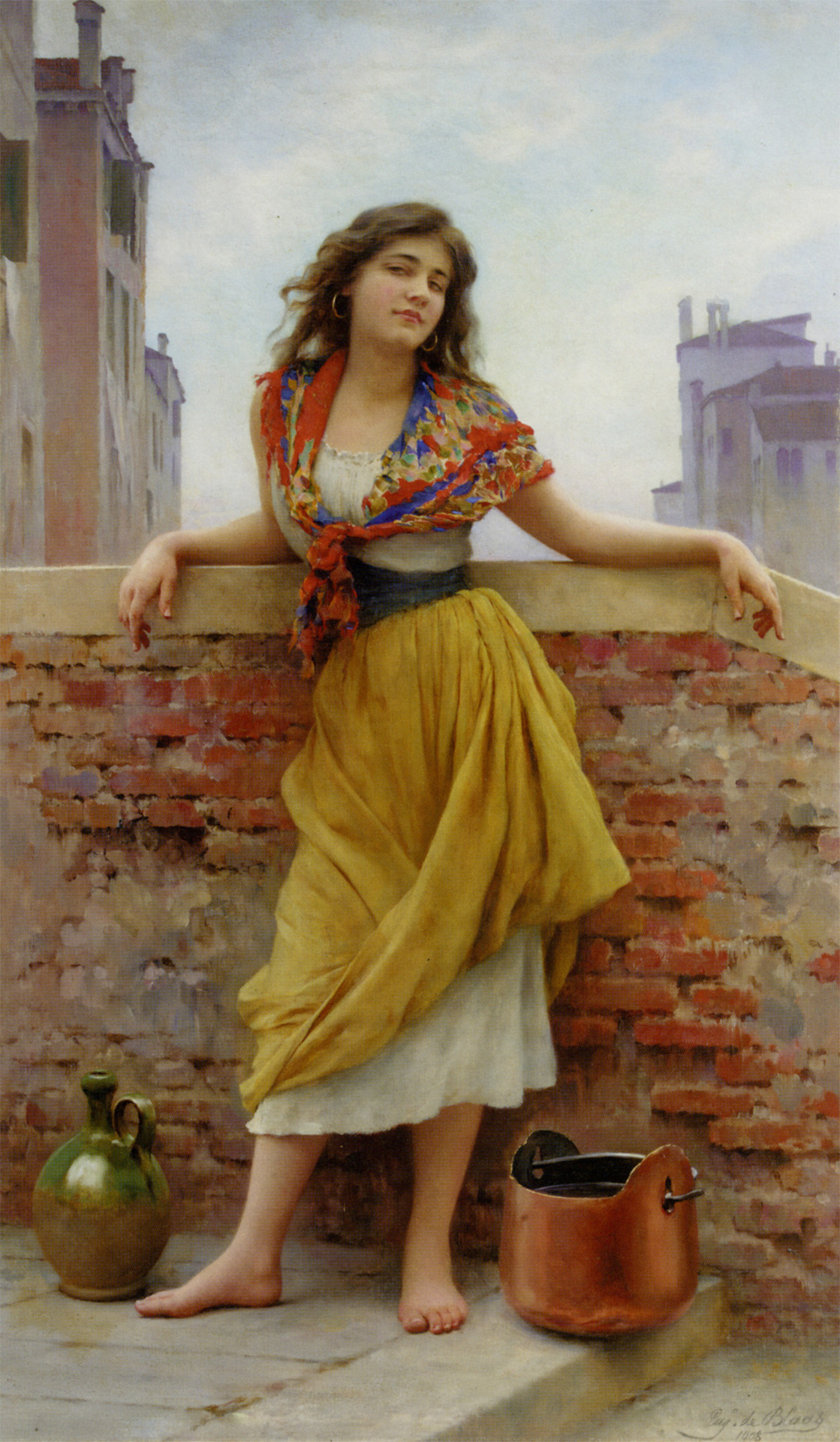 The Watercarrier - Eugene de Blaas 1909
