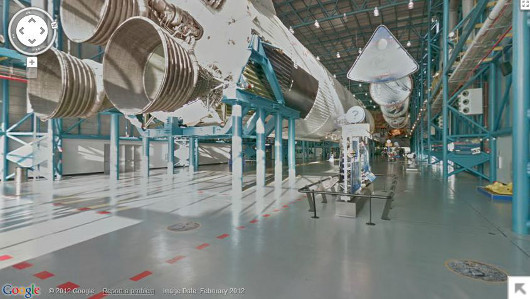 mothernaturenetwork:  Google Street View lets you tour the Kennedy Space CenterVisitors can get up close and personal with two space shuttles, the launch pad and much more.