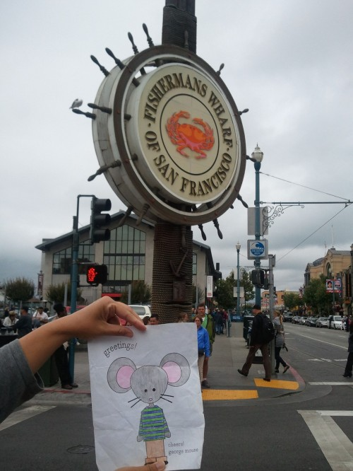 Mimi and George visit San Francisco's Fisherman's Wharf for clam chowder and crab! Yum!