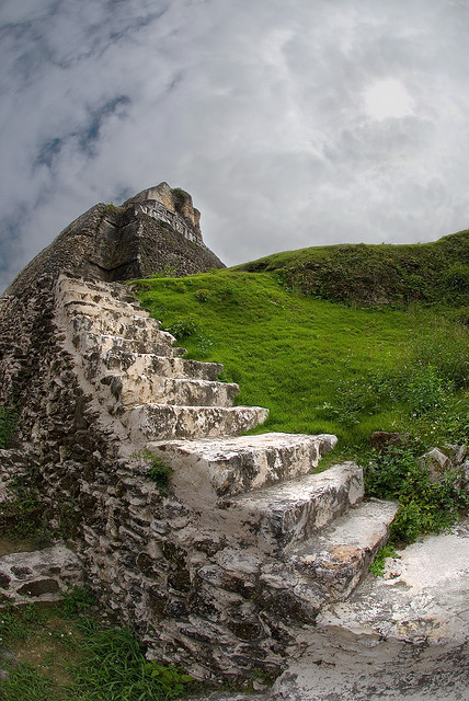 visitheworld:  Stairway to Xunantunich mayan temple ruins in western Belize (by andyi).