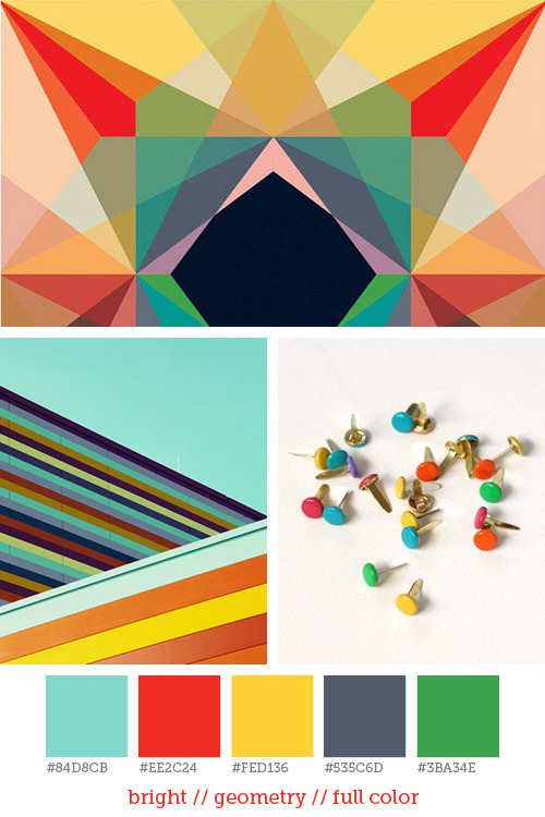 Style report #15 Bright colors and geometric forms, one of my favorite combinations. Here you can find a lot more colorful geometric designs.  Pictures: Andy Gilmore | Matthias Heiderich | Blank