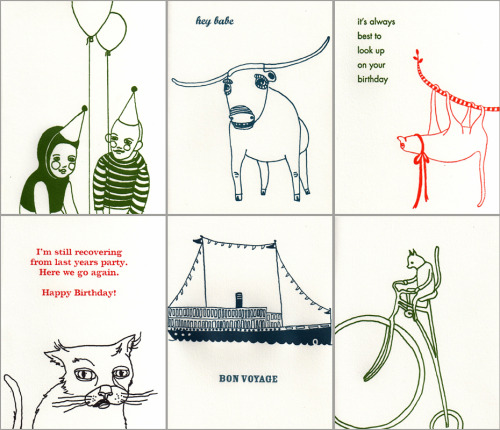 letterpress greeting cards!