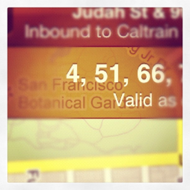 #muni these two numbers are ridiculously distant from each other  (Taken with Instagram)