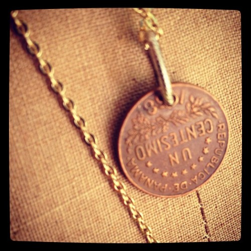 #panama #necklace #1968 #coin #vintage #necklace (Taken with Instagram)