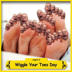 The BFO is celebrating Wiggle Your Toes Day!