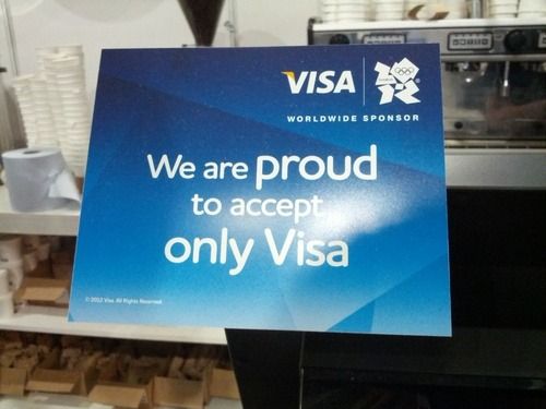 London Olympics proud to accept only visa