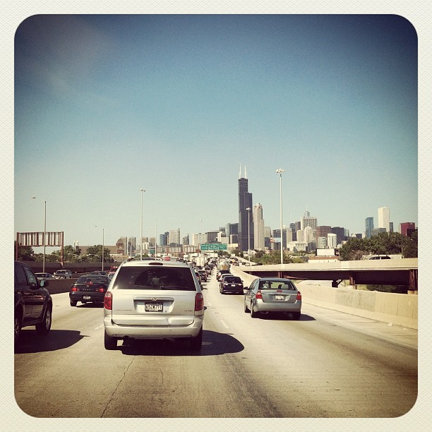 Gotta love #traffic in the #city. #chicago #road #highway (Taken with Instagram)