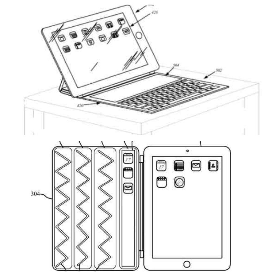 There has been a patent application from Apple that may reveal features for its next-generation Smart Cover, The iPad cover may include a flexible AMOLED display to augment the main display with additional space, or used as a full keyboard, similar to Microsoft's Surface tablet. will just have to wait and see when apple announce the next steps from this patent.