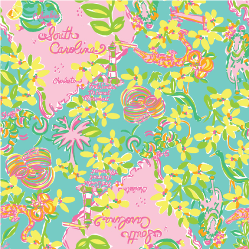 preptothemax:  Lilly Pulitzer South Carolina Print
