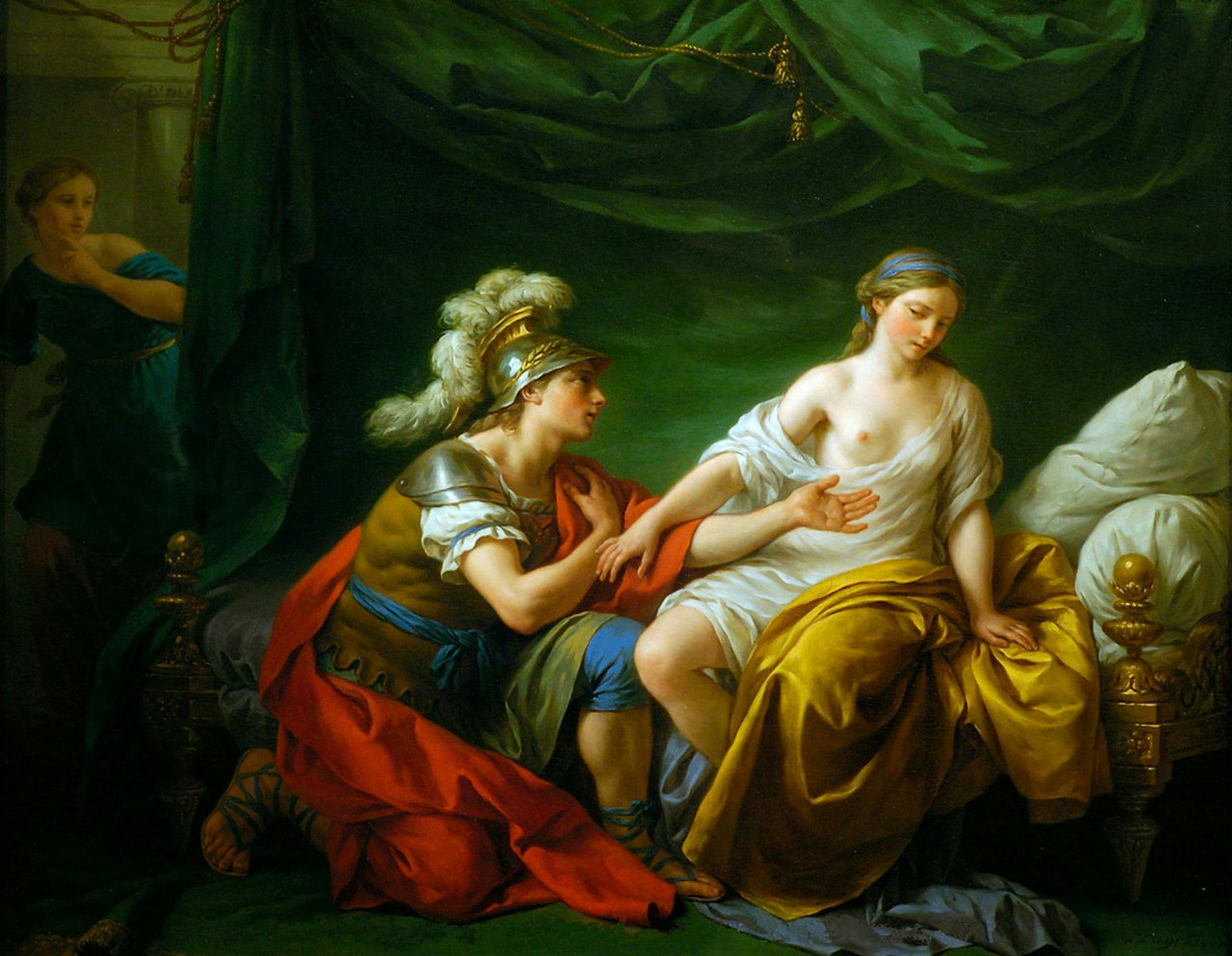 Alcibiades on His Knees before His Mistress - Louis Lagrenee 1781