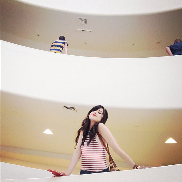 Queen of the castle @flashesofstyle  (Taken with Instagram at Guggenheim Museum)