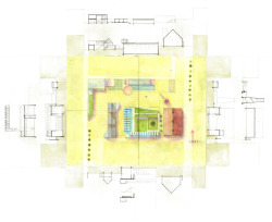 architectural-review:  Urban Monastery by Stephanie Lee, plan and sections  brilliant