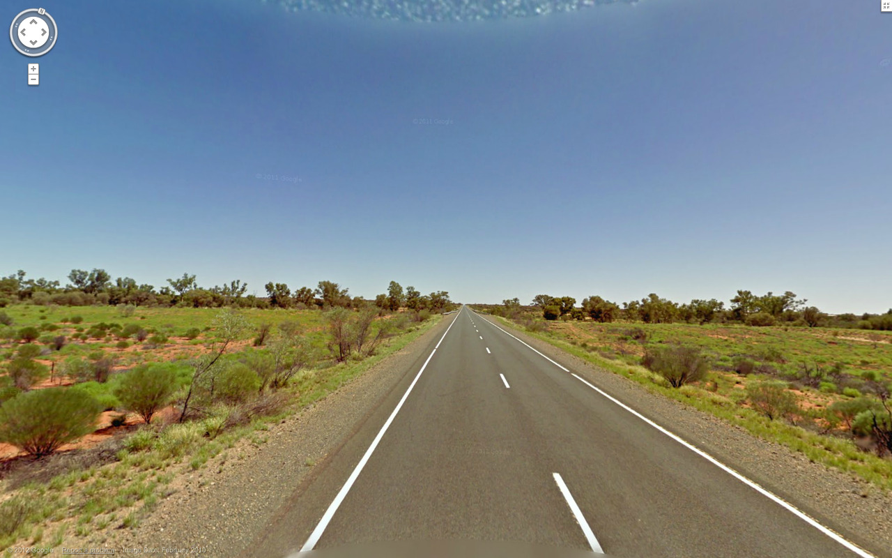 Long straight road. Indulkana, Australia.