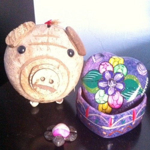 Gifts from @victruo from Mexico, Jamaica & Cayman. So cute! :)  (Taken with Instagram)