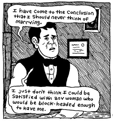 Panel from The Hypo: The Melancholic Young Lincoln by Noah Van Sciver.