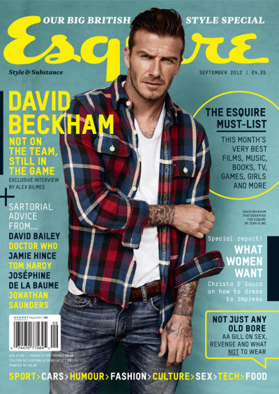 David Beckham is the Perfect Man for Esquire UK
