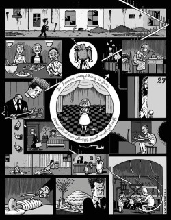 a-bittersweet-life:  Kim Duchateau's one page comic strip of the David Lynch film Eraserhead.