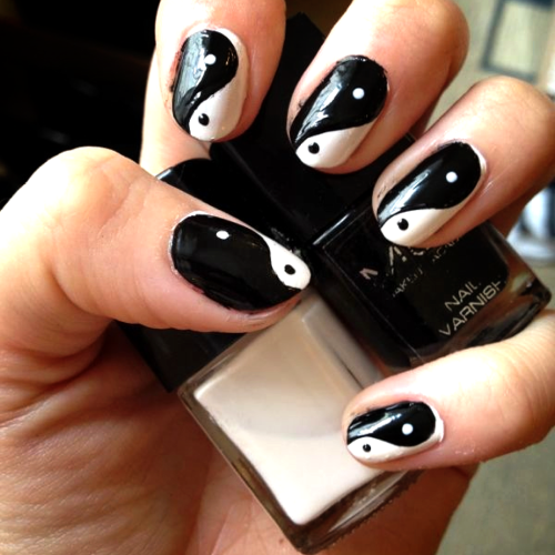 My Yin-Yang Nails  Using MUA Cosmetics £1 nail varnishes - www.muastore.co.uk  Karla X