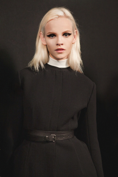 fashionfever:  Lanvin Fall 2012 Backstage featuring Ginta Lapina