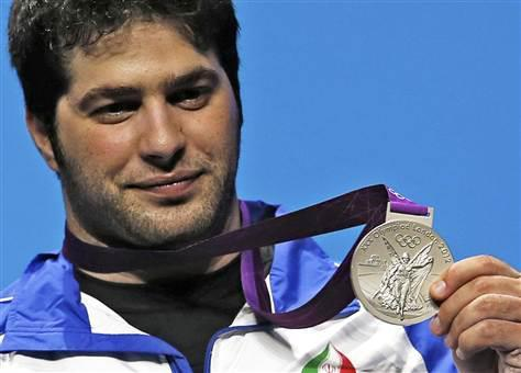 Navab Nasirshelal wins a Silver Medal in Weightlifting for Iran