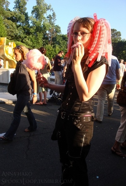 All the cotton candy went straight to my fat arm, I guess. No regrets though.