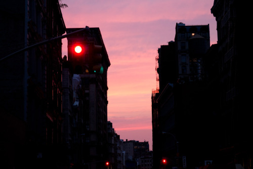 Sunset on Broome Street.