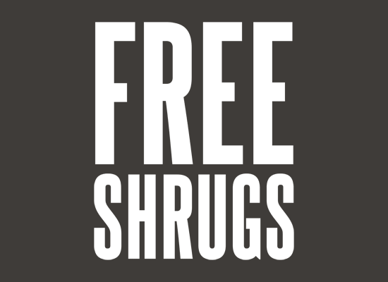 laughingsquid:  Free Shrugs