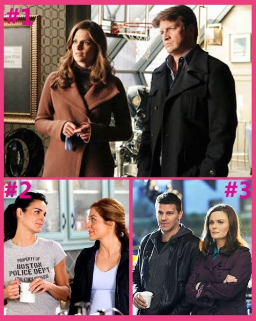 Today's Top 3 TV Duos: #1. Castle & Beckett #2. Rizzoli & Isles #3. Bones & Booth Time is running out - vote for your favorite TV pair today! http://bit.ly/MYSMZI