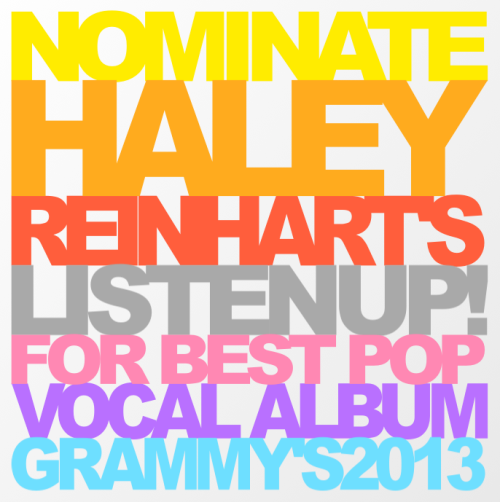 Nominate Haley Reinhart's Listen Up! for best pop vocal album.