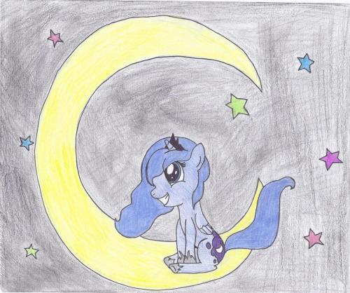 Filly Luna is happy Luna.