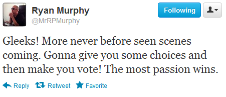 ohblainers:  And then Ryan Murphy decided that if fandom was going to destroy itself, it would do so on his watch.  It's the Fandom Hunger Games, basically.
