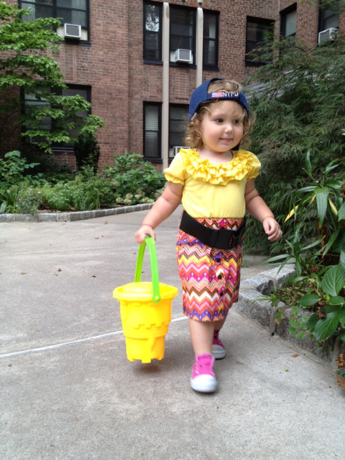 Adi walking to the playground in style (photo by @miklevin)