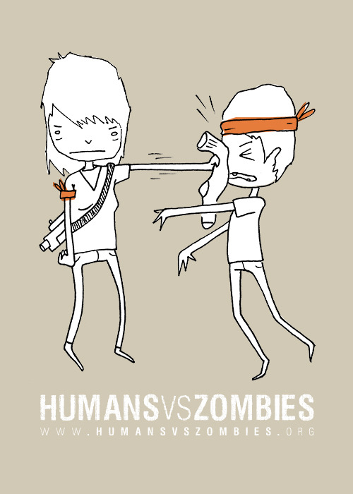 New Humans vs. Zombies t-shirt by myself and Jana Kinsman, available soon.