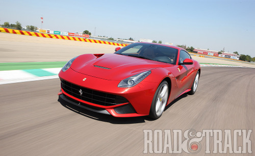 The 2013 Ferrari F12berlinetta – Ferrari's most powerful road car proves more thrilling than fearsome. (Source: Road & Track)