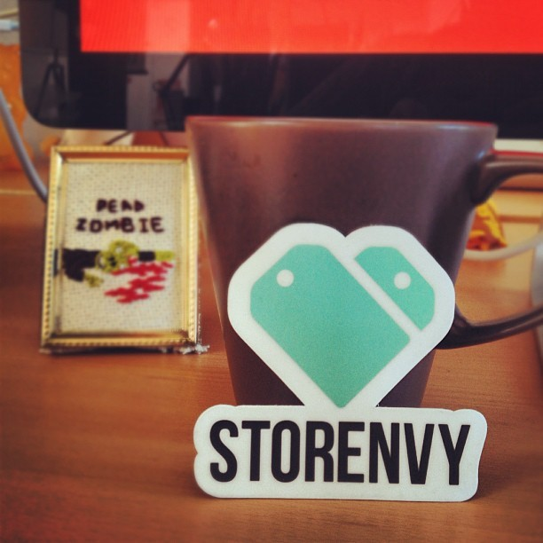 New @Storenvy identity creeping into the wild with new stickers. (Taken with Instagram at Storenvy)