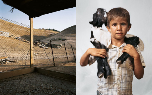 "Top: Bilal, 6, Wadi Abu Hindi, The West Bank Middle: Jaime, 9, New York, USA Bottom: Indira, 7, Kathmandu, Nepal James Mollison, from the series Where Children Sleep. Pictures taken around the world of children and their bedrooms. ""Where Children Sleep is about stories of diverse children around the world, told through portraits and pictures of their bedrooms. I found myself thinking about my bedroom: how significant it was during my childhood, and how it reflected what I had and who I was. My thinking was that the bedroom pictures would be inscribed with the children's material. The book is written and presented for an audience of 9-13 year olds ' intended to interest and engage children in the details of the lives of other children around the world."" - Related, Rania Matar's series A Girl and Her Room"
