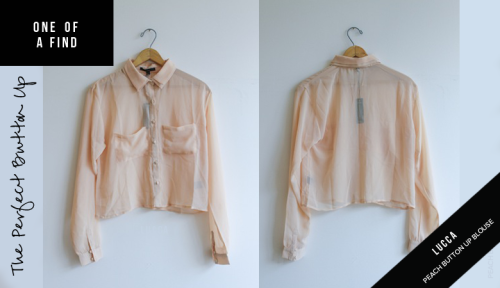 ONE OF A FIND — LUCCA Peach Button Up Blouse