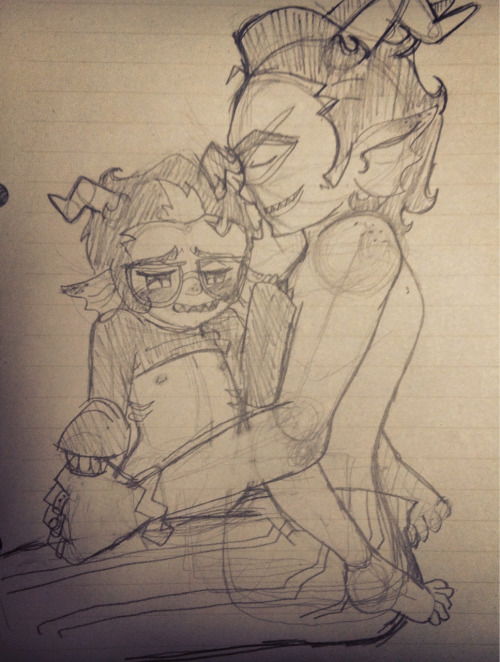 zombiejammer:  And the creep of the year award goes to me. Dualscar/Eridan sketch for 8thwwonder.  thank u so much