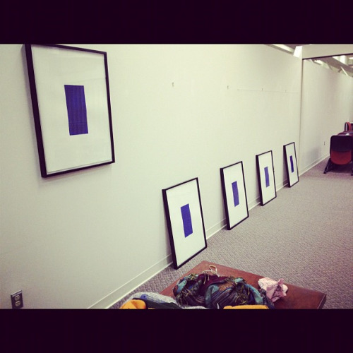 Hanging my work. on Flickr.level