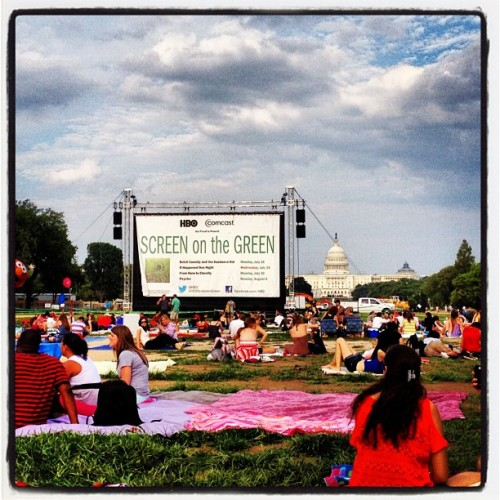 Screen on the Green! Also, my city is awesome. #DC #SotG (Taken with Instagram)