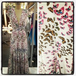 Issa London butterfly printed gown. Pretty! #resort ML  (Taken with Instagram)