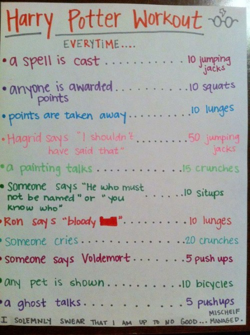 the-fitspirational-blonde:  I'm reblogging this for my Harry Potter addicted best friend Allie who JUST bought new running shoes. WE ARE DOING THIS AT OUR NEXT SLEEPOVER.