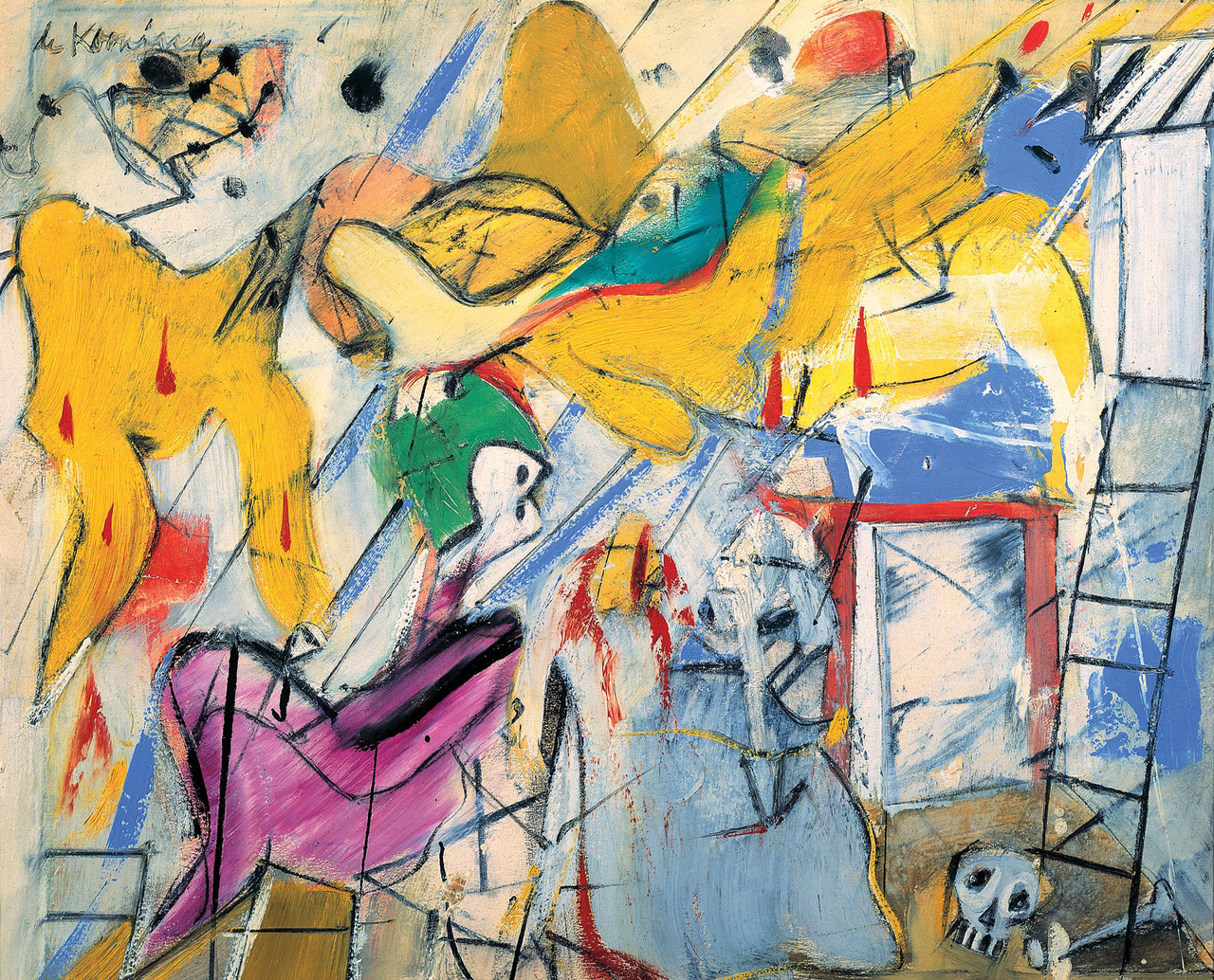 Abstraction, 1950, de Kooning.