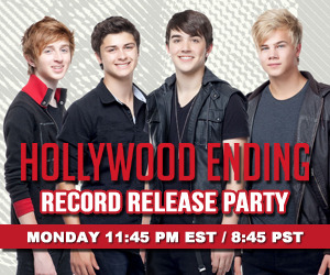 Hollywood Ending is going to have a RECORD RELEASE party tonight starting at  11:45PM EST / 8:45PM PT to celebrate the release of their brand new album ALWAYS 18!