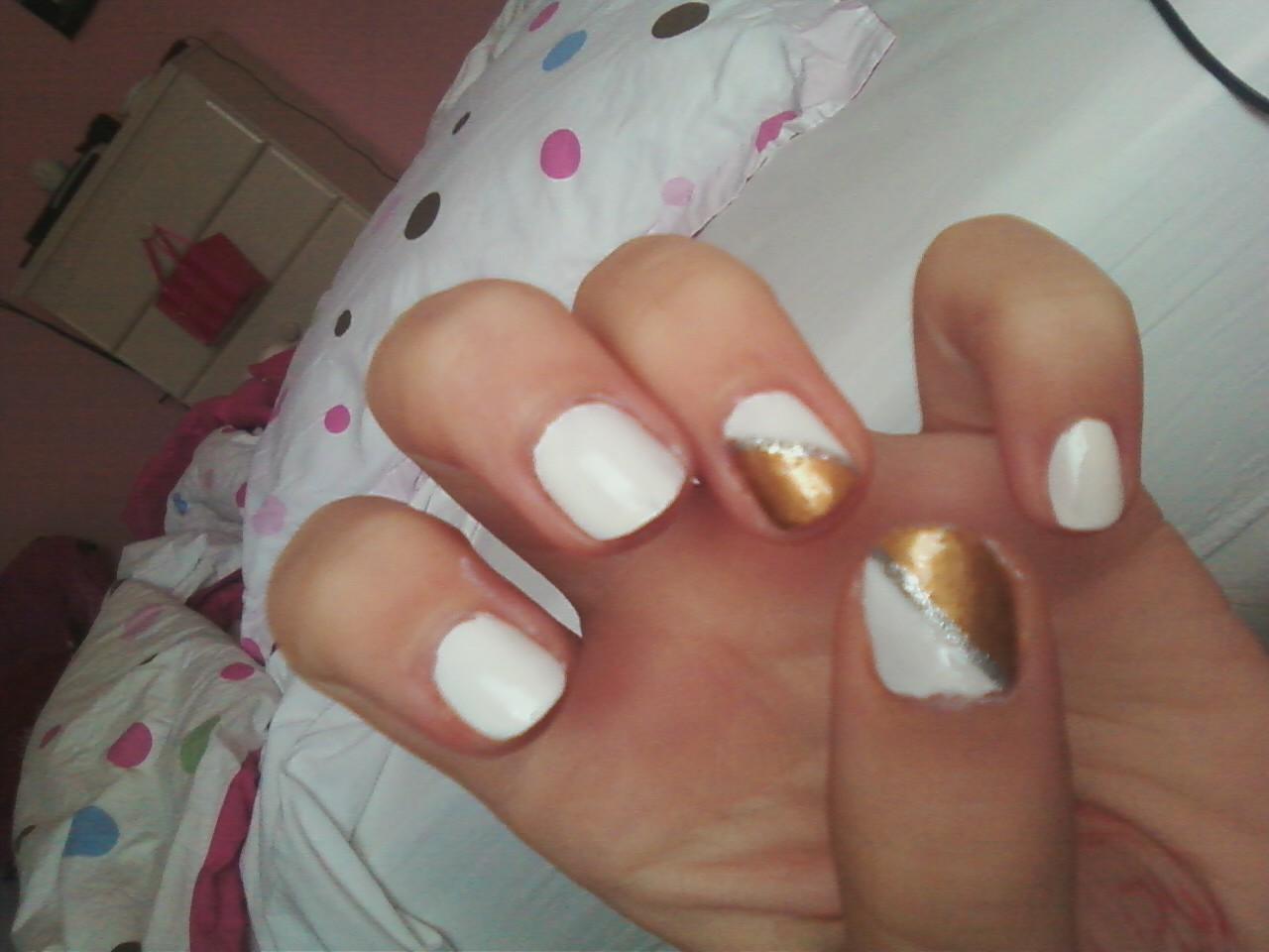 Gold Dipped Nails