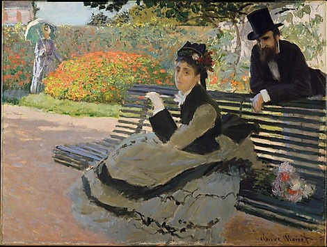 Camille Monet (1847–1879) on a Garden Bench Claude Monet (French, Paris 1840–1926 Giverny) Date: 1873